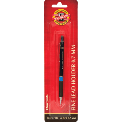 Koh-I-Noor Mephisto Mechanical Pencil - 7 mm Lead Diameter - Black Plastic, Silver Barrel - 1 Each