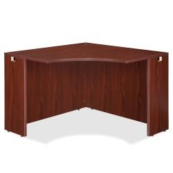 "Lorell® Essentials Series Corner Desk, 42""W, Mahogany"