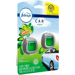 Febreze® CAR Air Fresheners, Gain Original, 0.13 Oz, Pack Of 2