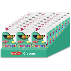 CLI Creative Arts 24 Crayon Display - Assorted - 24 / Display Box