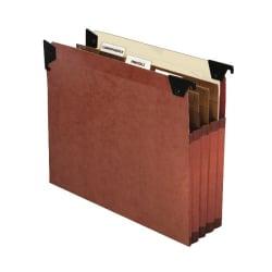 "Pendaflex® Premium Expanding Files With Swing Hooks, 9 1/2"" x 11 3/4"", Dark Brown, Pack Of 5"