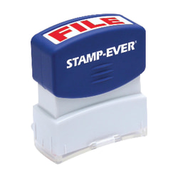 "Stamp-Ever Pre-inked File Stamp - Message Stamp - ""FILE"" - 0.56"" Impression Width x 1.69"" Impression Length - 50000 Impression(s) - Red - 1 Each"