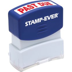 "Stamp-Ever Pre-inked Past Due Stamp - Message Stamp - ""PAST DUE"" - 0.56"" Impression Width x 1.69"" Impression Length - 50000 Impression(s) - Red - 1 Each"