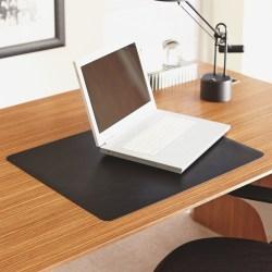 "Lorell Desktex Anti-Static Desk Pad - Rectangle - 36"" Width x 20"" Depth - Black"