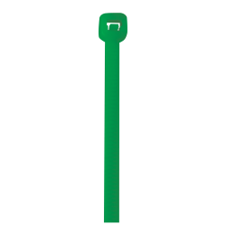 """Office Depot® Brand Cable Ties, 50 Lb, 18"""", Green, Pack Of 500"""