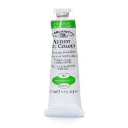 Winsor & Newton Artists' Oil Colors, 37 mL, Permanent Green Light, 483