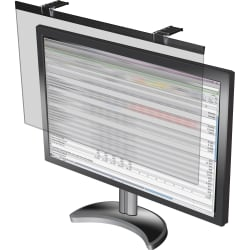"""Business Source LCD Monitor Privacy Filter Black - For 24"""" Widescreen LCD Monitor - 16:10 - Acrylic - Black"""