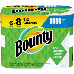 Bounty® Select-A-Size® Large 2-Ply Paper Towels, 94 Sheets Per Roll, Pack Of 6 Rolls