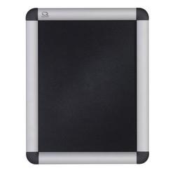 "Quartet® Clip Frame Wall 8 1/2"" x 11"" Sign Holder, Aluminum Frame, 12 1/5"" x 14 4/5"""