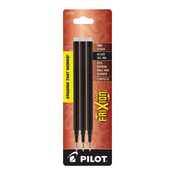 Pilot® FriXion Erasable Gel Pen Refills, Fine Point, 0.7 mm, Black Ink, Pack Of 3