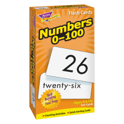 Trend Numbers 0-100 Flash Cards - Educational - 101 / Box