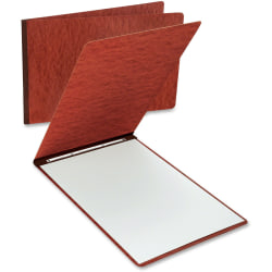 "Oxford Tabloid, Letter Recycled Report Cover - 11"" x 17"" , 8 1/2"" x 11"" - 2 x Prong Fastener(s) - 3"" Fastener Capacity for Folder - Pressboard - Red - 65% - 1 Each"