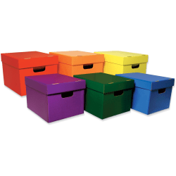 "Classroom Keepers Storage Tote Assortment - External Dimensions: 12.3"" Width x 15.3"" Depth x 10.1"" Height - Stackable - Assorted - For File Folder, Hanging Folder - 6 / Pack"
