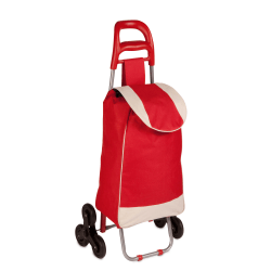 "Honey-Can-Do Large Rolling Knapsack Cart With Handle, 39 3/8"" x 17 3/8"" x 11 4/5"", Red"
