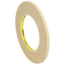 "3M™ 231 Masking Tape, 3"" Core, 0.25"" x 180', Tan, Case Of 144"