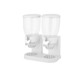 Zevro Indispensable Dispenser, Double, 35 Oz, White