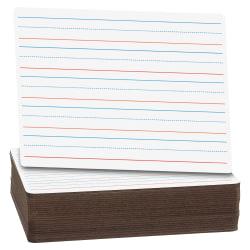 """Flipside Ruled/Plain Frameless Dry-Erase Boards, 12"""" x 9"""", Pack Of 24"""