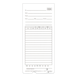 """Acroprint ATR480 Weekly/Bi-Weekly/Monthly Time Cards, 2-Sided, 3-3/8"""" x 7-1/2"""", Pack Of 50 Time Cards"""