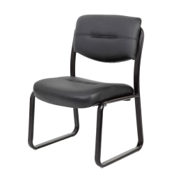 Boss Office Products Bonded LeatherPlus™ Guest Chair, Black
