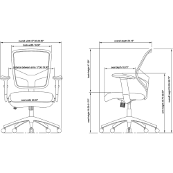 Lorell® Executive Mesh/Bonded Leather Mid-Back Chair, Black