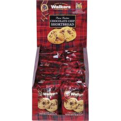 Walker's Cookies Chocolate Chip Shortbread Cookies, Box Of 20