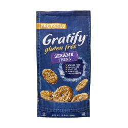 Gratify Gluten-Free Sesame Pretzel Thins, 10.5 oz, 6 Pack