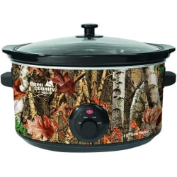 Open Country 8 Qt Slow Cooker - Woodland Birch Design - 380 W2 gal - Camouflage, Clear