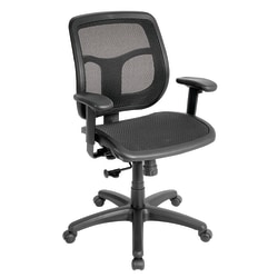 Mammoth Office Products Mesh Multifunction Mid-Back Chair, Black