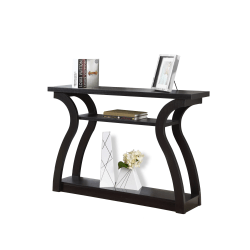 Monarch Specialties Console Table, Curved, 3 Tier, Cappuccino