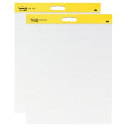 "Post-it® Super Sticky Wall Pads, 20"" x 23"", White Paper, Pack Of 2 Pads"