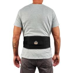 Ergodyne ProFlex 1505 Low-Profile Weight Lifters Back Support Brace, X-Large, Black