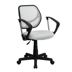 Flash Furniture Mesh Low-Back Swivel Task Chair, White/Black