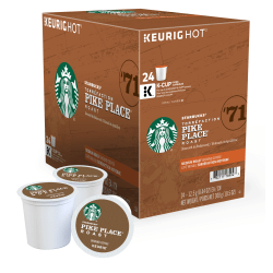 Starbucks® Pike Place Coffee Single-Serve K-Cup®, Carton Of 24