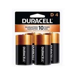 Duracell® Coppertop D Alkaline Batteries, Pack Of 4