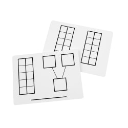 "Didax Dry-Erase Ten Frame Mats, 9"" x 12"", White, Pack Of 2"