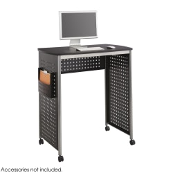 """Safco® Scoot Stand-Up Workstation, 42 1/8""""H x 39 7/16""""W x 23 5/16""""D, Black/Silver"""