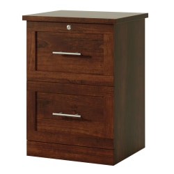 "Realspace® 2-Drawer 17""D Vertical File Cabinet, Mulled Cherry"