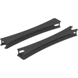 "Safco Rumba Tables T-Leg Caps - 3.3"" Width x 1"" Depth x 2"" Height - Plastic - Black"