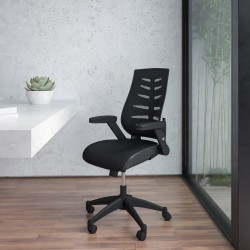 Flash Furniture Designer Mesh High-Back Swivel Chair, Black