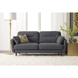 Serta® Sierra Collection Sofa, Slate Gray/Chestnut