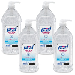 Purell® Economy Size Pump Hand Sanitizer, 67.6 Oz, Fragrance-Free, Carton Of 4