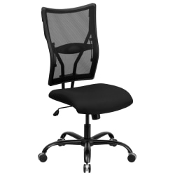 Flash Furniture HERCULES Mesh High-Back Big And Tall Swivel Chair, Black