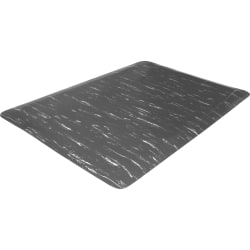 """Genuine Joe Marble Top Anti-fatigue Mats - Office, Industry, Airport, Bank, Copier, Teller Station, Service Counter, Assembly Line - 24"""" Width x 36"""" Depth x 0.50"""" Thickness - High Density Foam (HDF) - Gray Marble"""