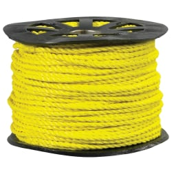 "Office Depot® Brand Twisted Polypropylene Rope, 5,600 Lb, 5/8"" x 600', Yellow"