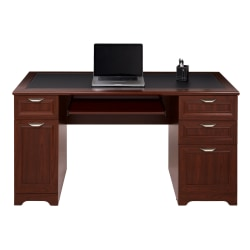 "Realspace® Magellan 59""W Managers Desk, Classic Cherry"