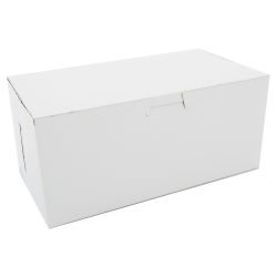 """SCT® Bakery Boxes, Non-Window, 9"""" x 4"""" x 5"""", White, Pack Of 250 Boxes"""