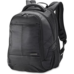"""Samsonite Classic Carrying Case Rugged (Backpack) for 13"""" to 15.6"""" Notebook - Black - Shock Resistant Interior - Ballistic Fabric - Checkpoint Friendly - Handle, Shoulder Strap - 17.8"""" Height x 12.5"""" Width x 9.3"""" Depth - 1 Pack"""