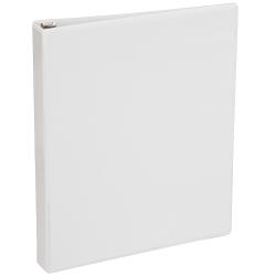 "Just Basics® View 3-Ring Binder, 1"" Round Rings, 41% Recycled, White"