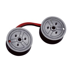 Dataproducts Universal C-Wind Calculator Spools, Red/Black, Pack Of 12