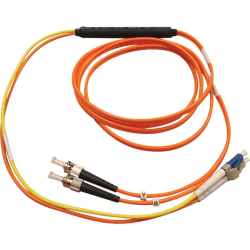 Tripp Lite 3M Fiber Optic Mode Conditioning Patch Cable ST/LC 10' 10ft 3 Meter - LC Male - ST Male - 9.84ft